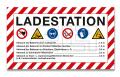 """Schild """"Ladestation"""" 700x400"""