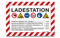 "Aufkleber ""Ladestation"" A6"