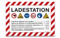 "Aufkleber ""Ladestation"" A5"