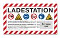 """Schild """"Ladestation"""" 700x400 - mit Logo"""