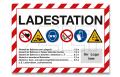 """Schild """"Ladestation"""" A3 - mit Logo"""