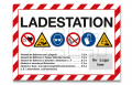 """Schild """"Ladestation"""" A4 - mit Logo"""