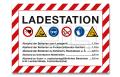 """Schild """"Ladestation"""" A3"""