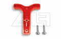 Handgriff für SB 50 rot mit Schrauben (Hakenform)