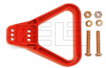 Griff SB/SBX 175 & SBE 160  rot; gewinkelt mit 2 Schrauben M6 x 4