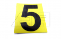 """Aufkleber """"5"""" 65mm Gelb schwarze Zahl"""